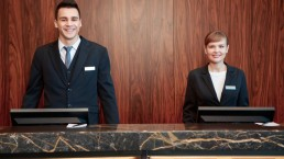 Receptionist in Hotel