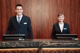 Receptionist in Hotel